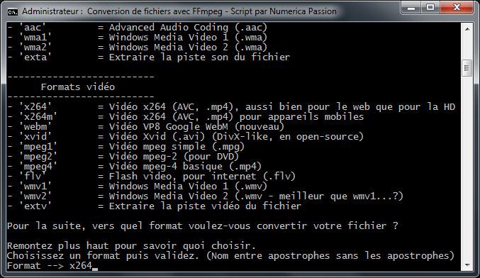 [Guide] FFmpeg : convertissez vos vidéos à votre guise sous Windows ! (...ou plus ou moins) - Numerica Passion